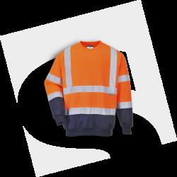 Sweatshirt bicolore B306...