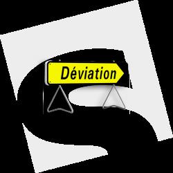 """Panneau KD22A """"Déviation"""""""