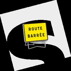 """Panneaux KC1 """"Route Barré..."""